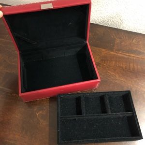 Red Leather Jewelry Box